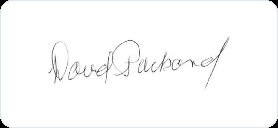 David Packard signature