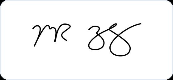 Mark Zuckerberg signature
