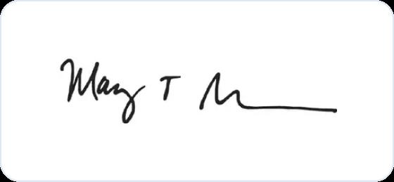 Mary Barra signature