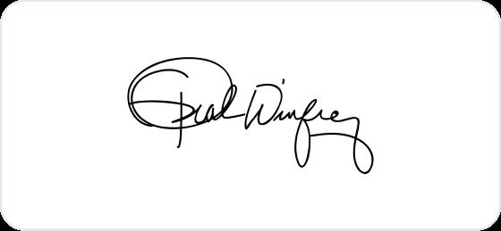 Oprah Winfrey signature
