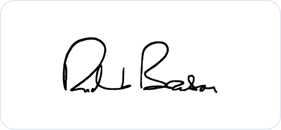 Richard Branson signature