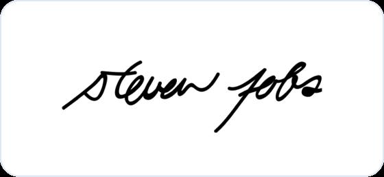 Steve jobs signature