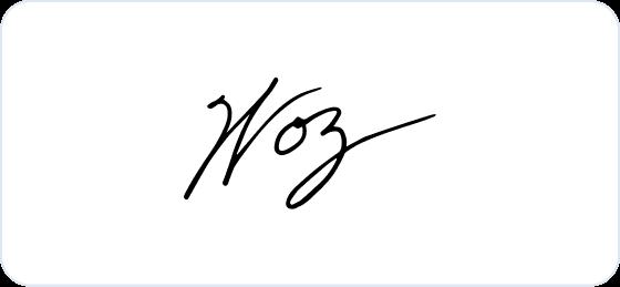 Steve Wozniak signature