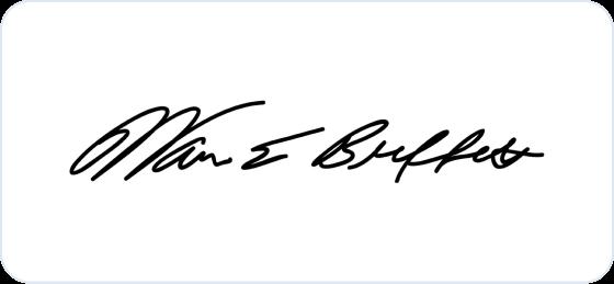 Warren Buffett signature