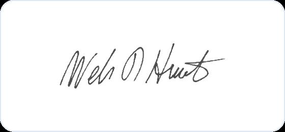 William Hewlett signature