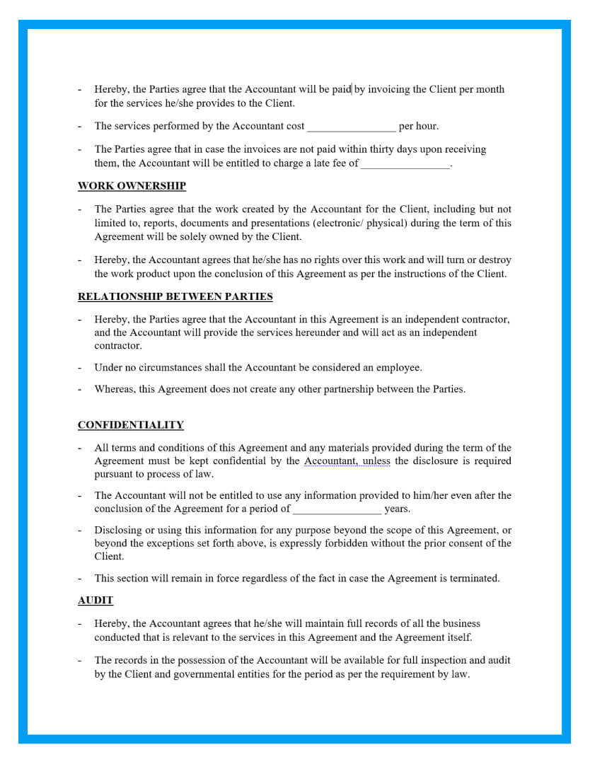 accounting contract template page 2