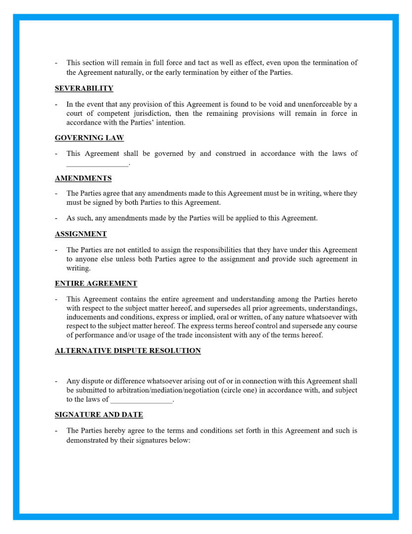 agency agreement template page 4