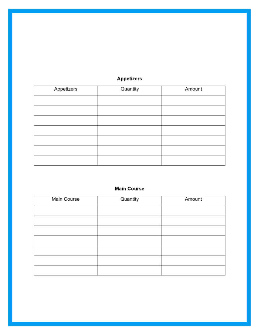 catering proposal template page 3