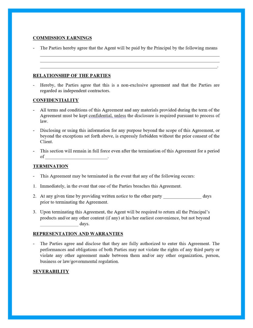 commission agreement template page 2