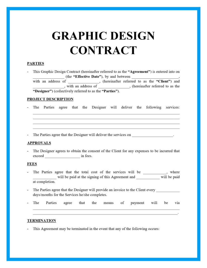 graphic design contract template page 1