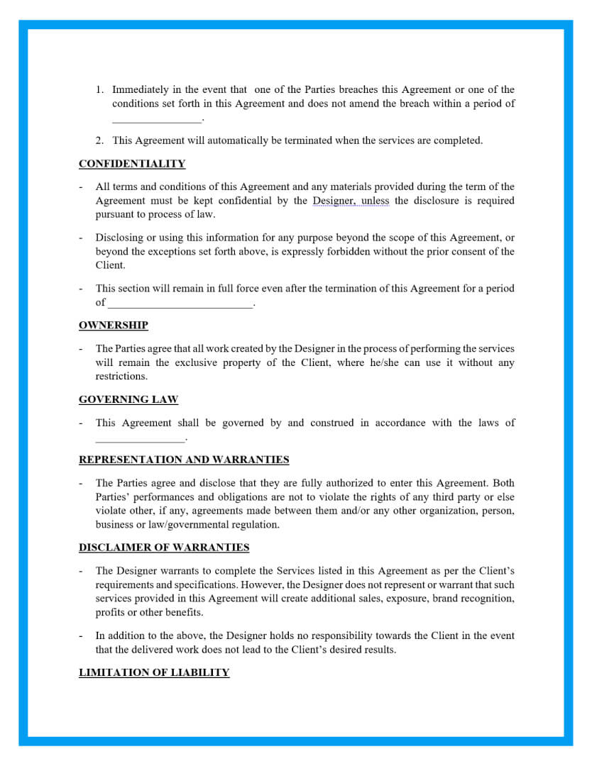 graphic design contract template page 2