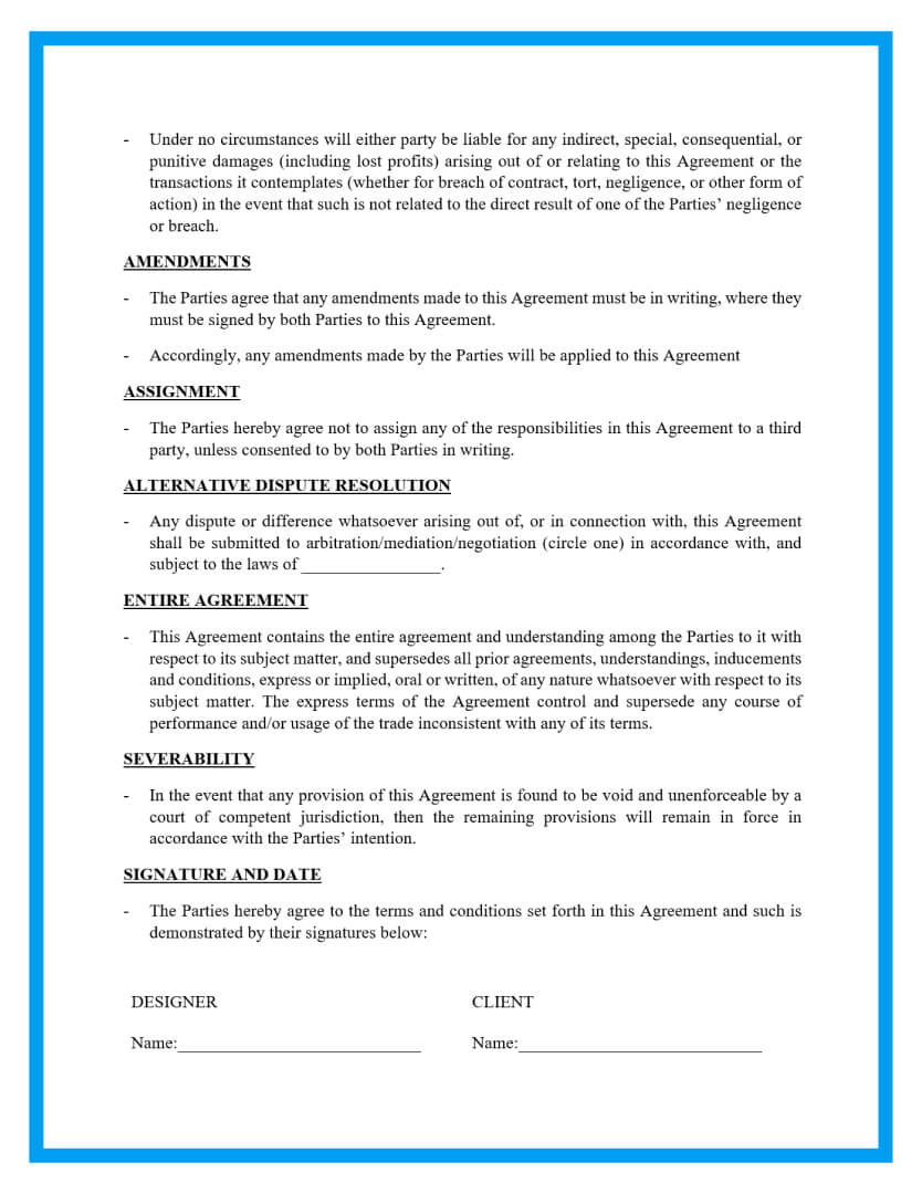 graphic design contract template page 3