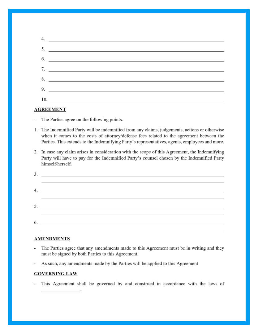 indemnification agreement template page 2