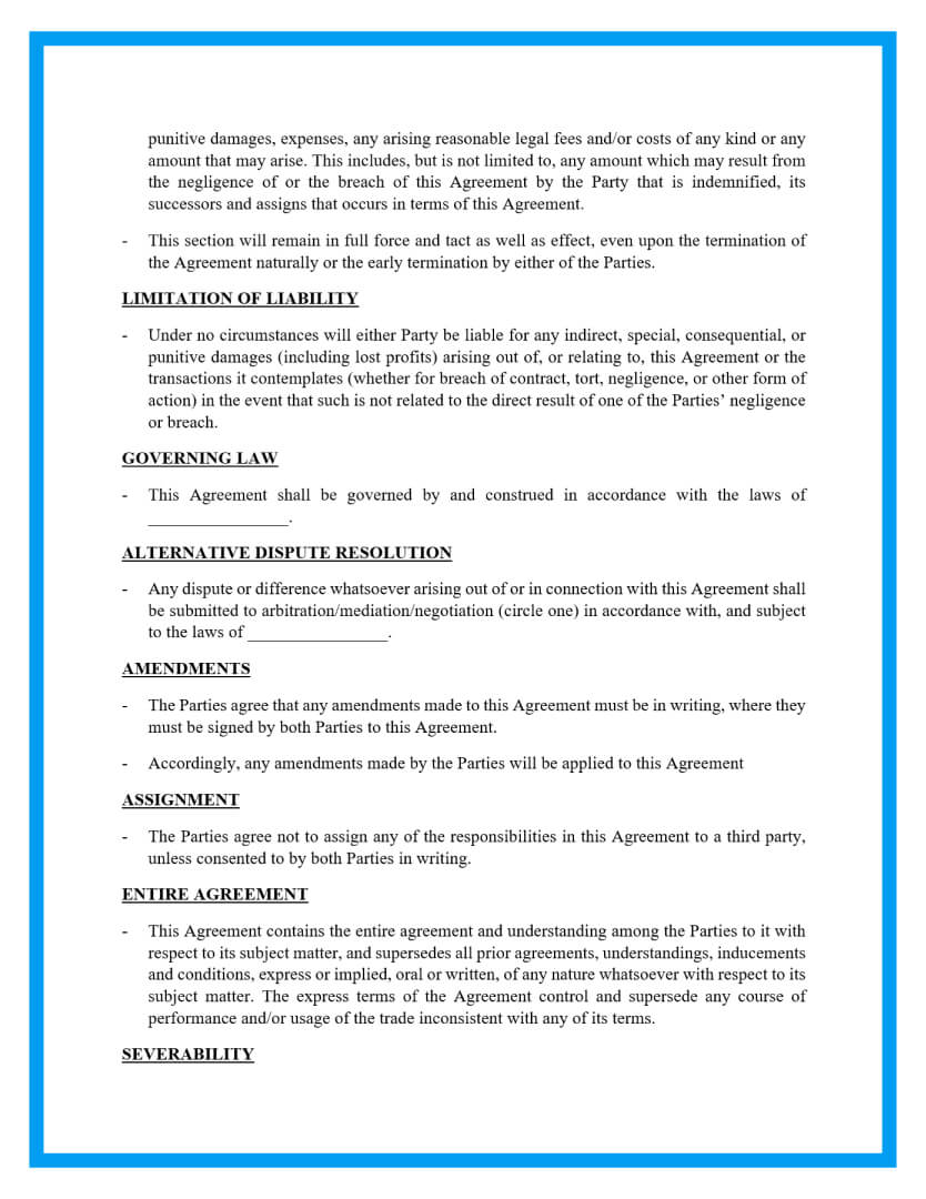 lawn service landscaping agreement template page 3