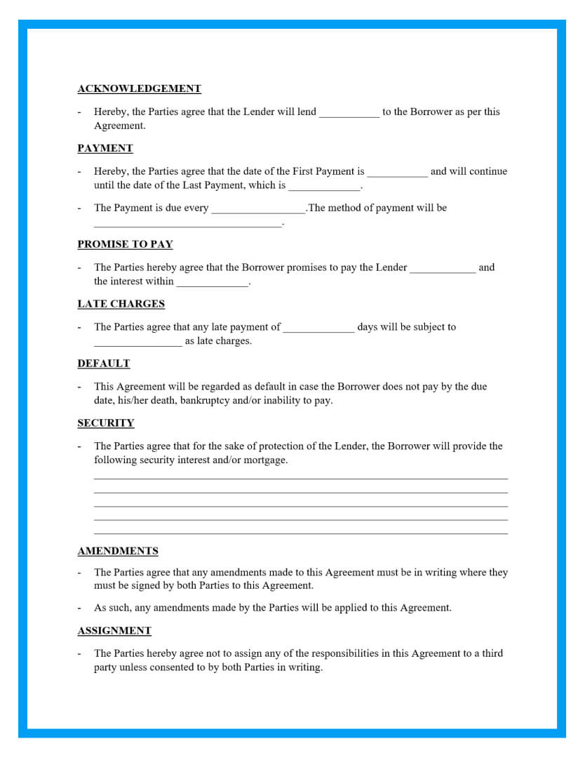 loan agreement template page 2