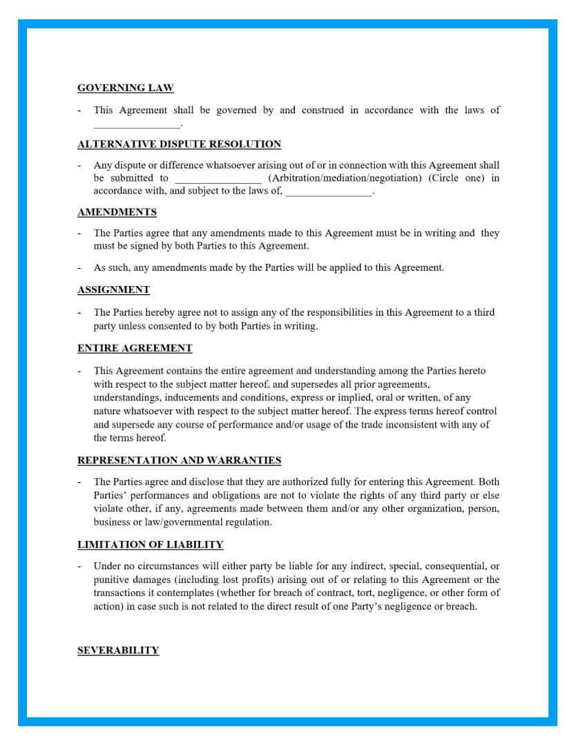 memorandum of understanding template page 2