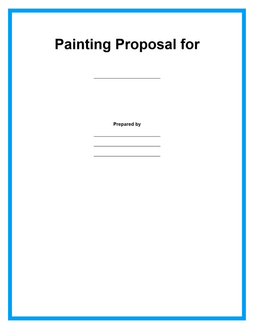 painting proposal template page 1