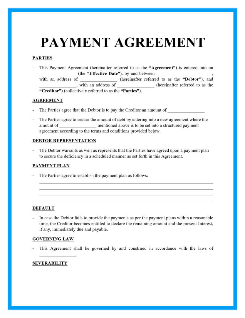 payment agreement template page 1