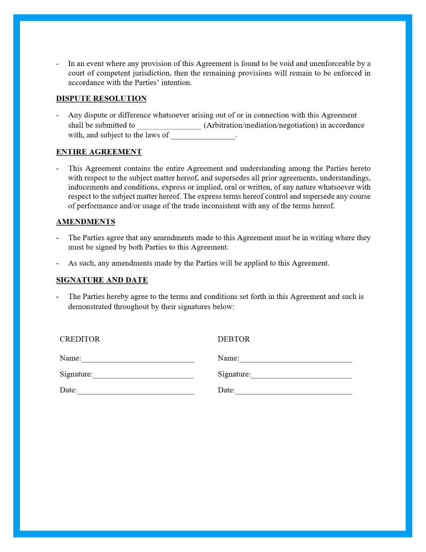 payment agreement template page 2