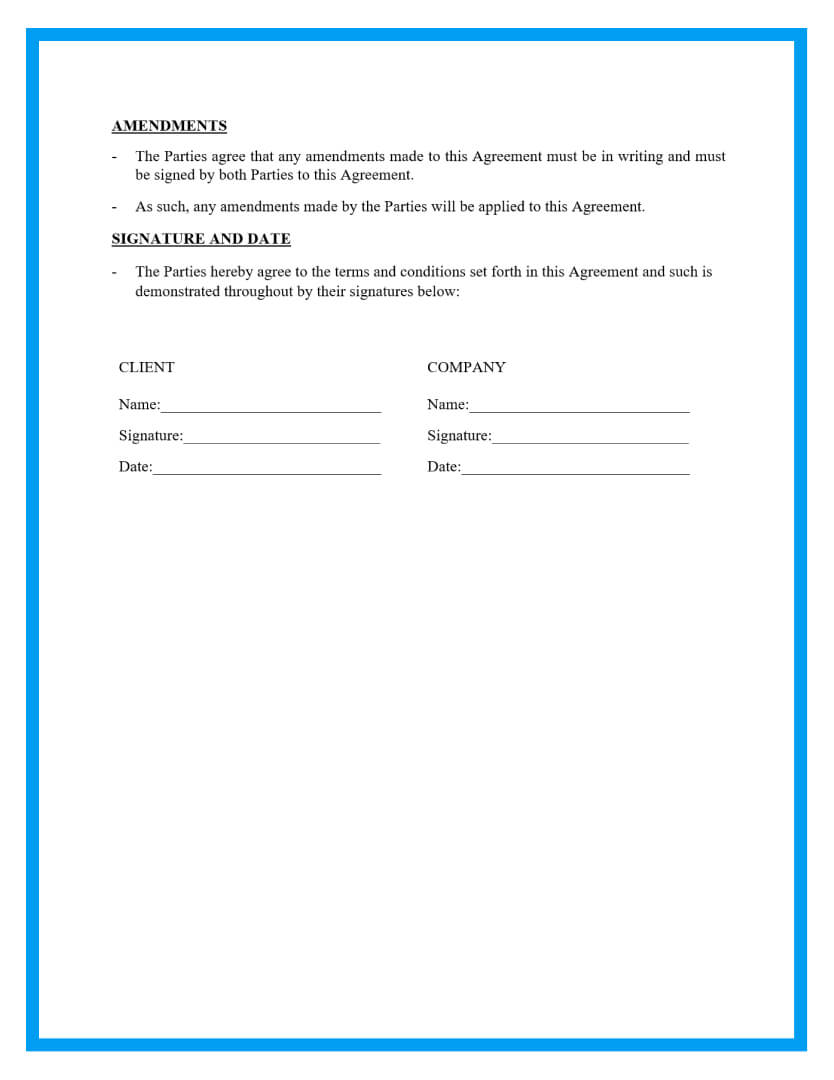 personal training contract template page 4