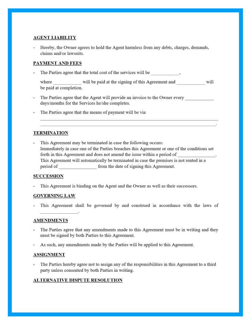 property managementagreement template page 2