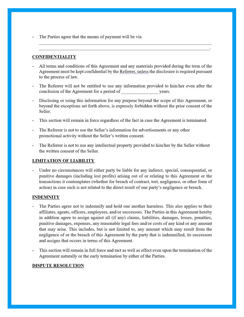 referral agreement template page 2