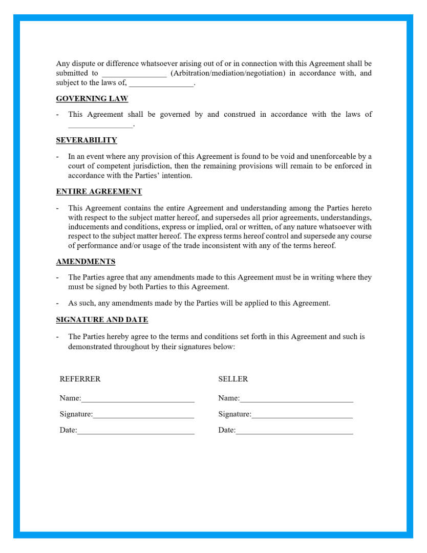 referral agreement template page 3
