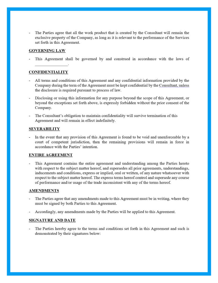 retainer agreement template page 3