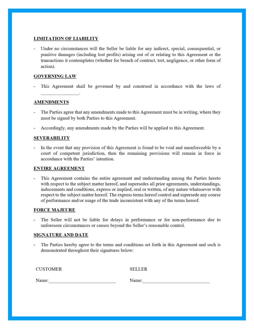 sales contract template page 3