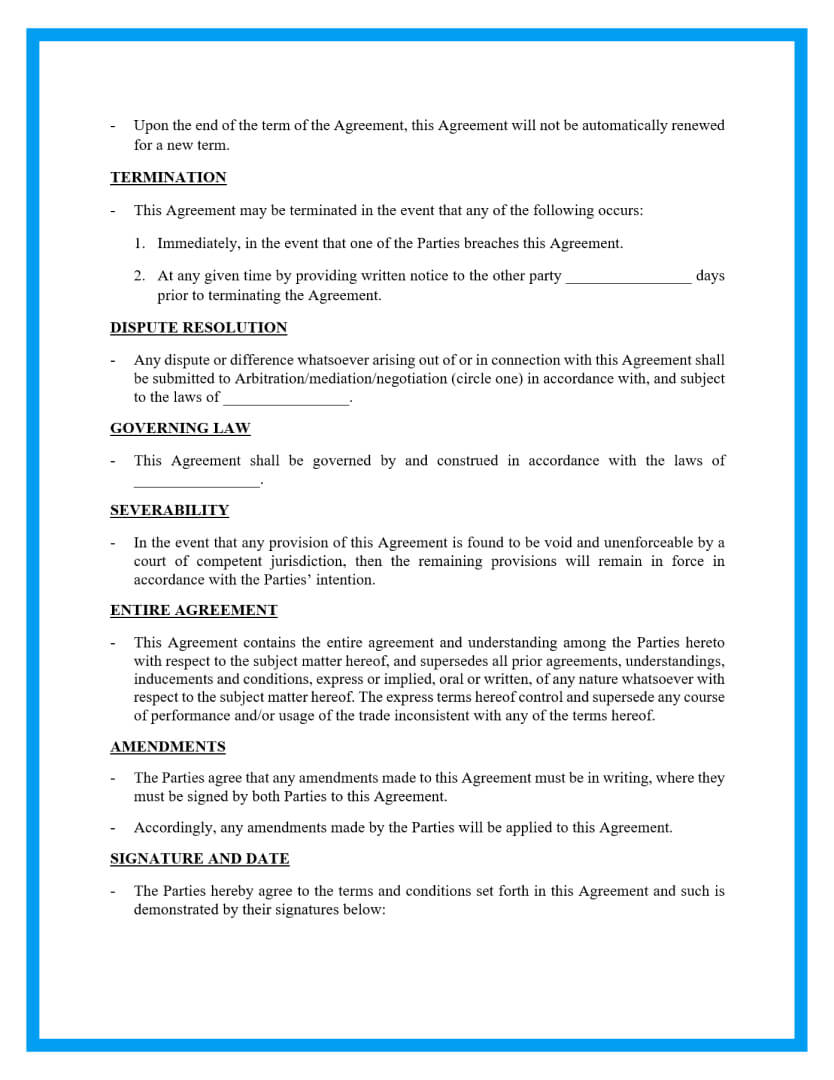 sublease agreement template page 2