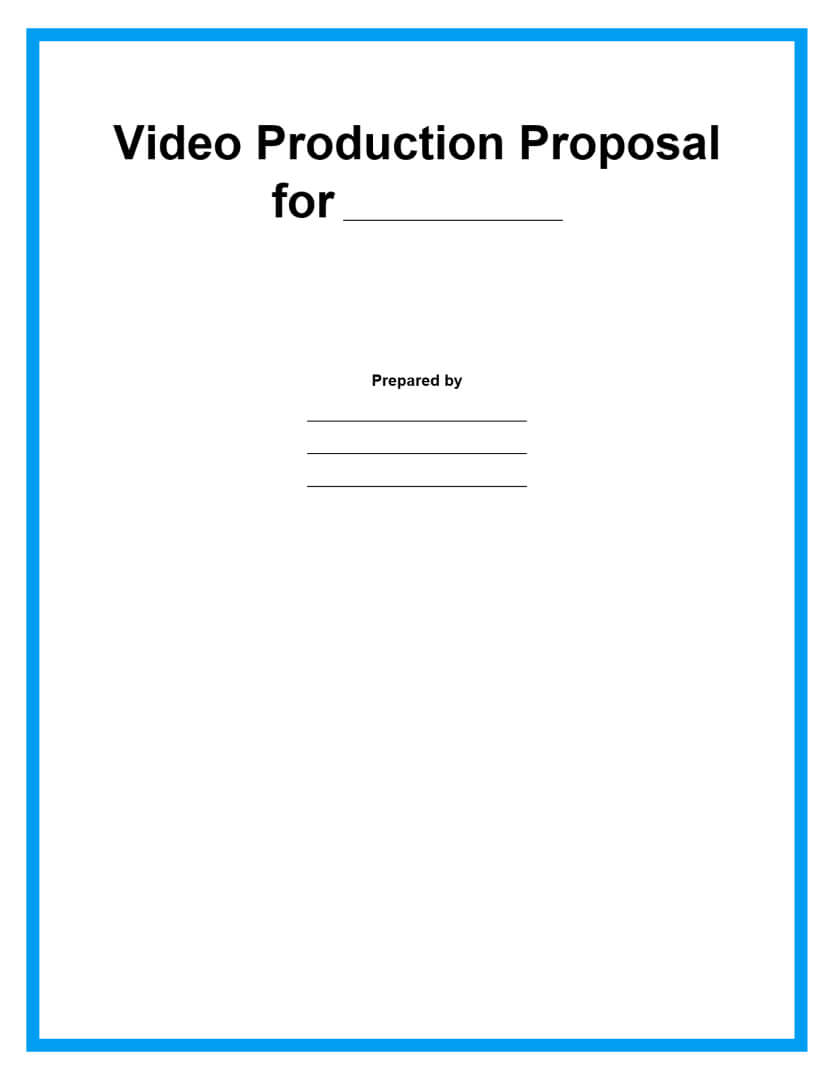 video production proposal template page 1