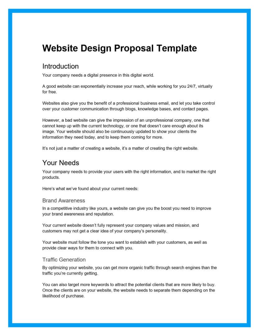 website design proposal template