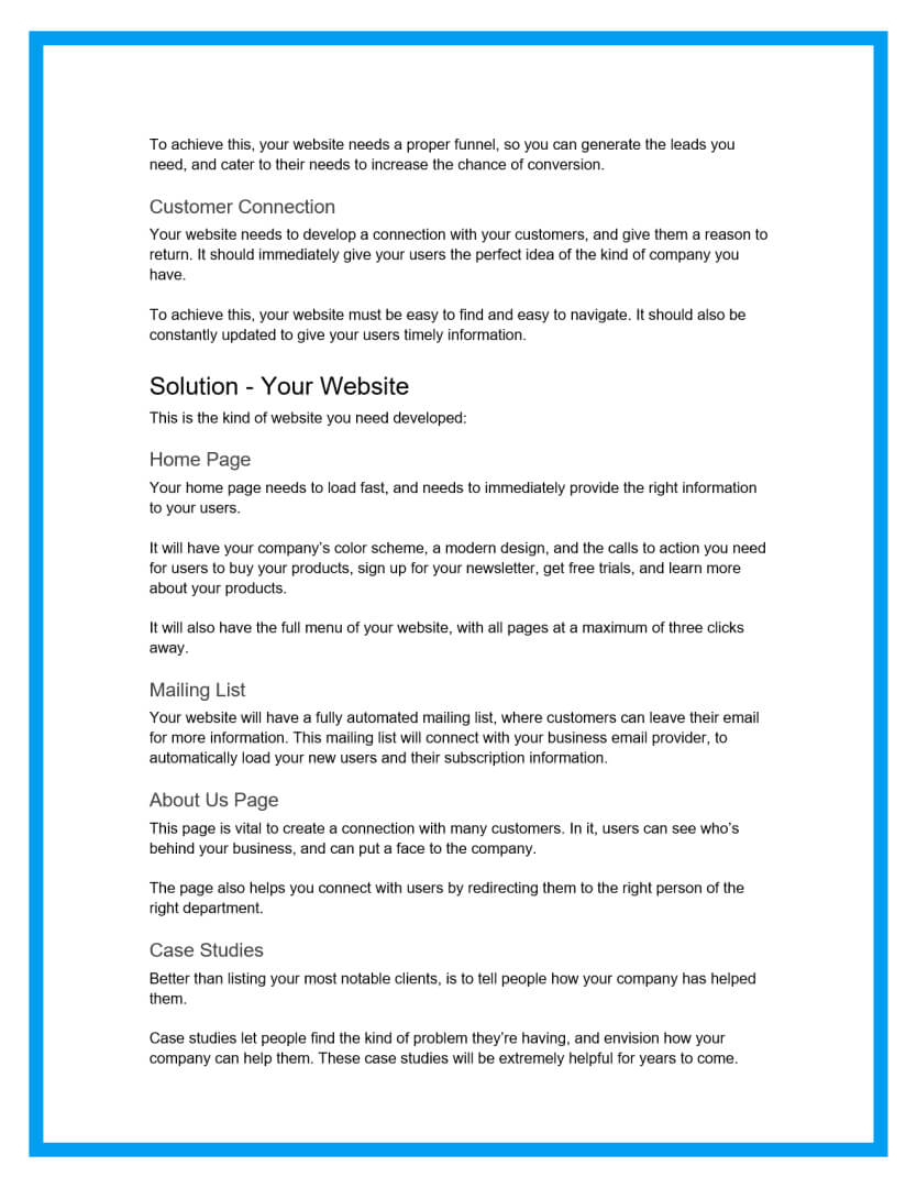 website design proposal template 1