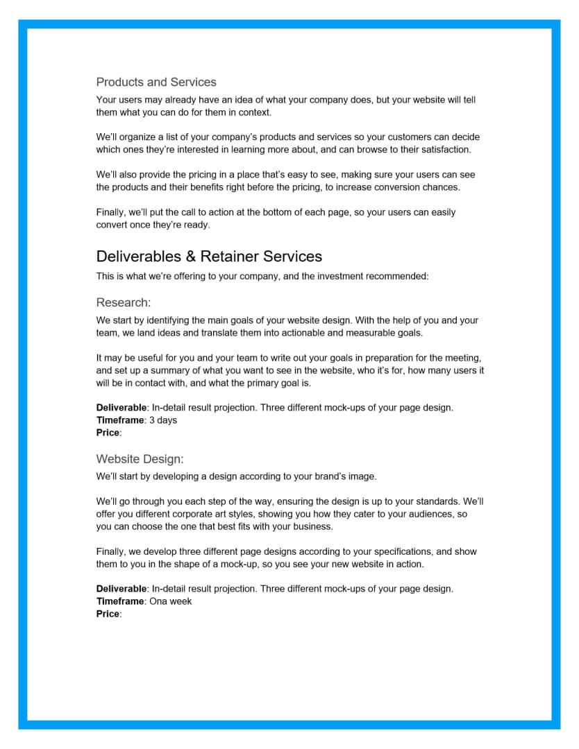 website design proposal template 2