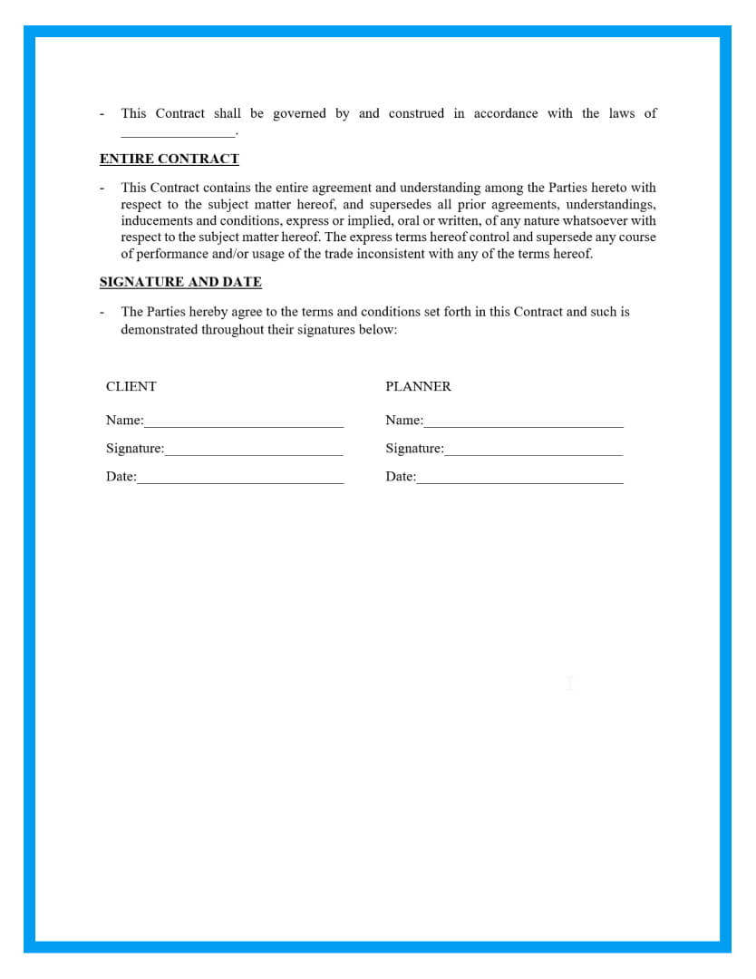 wedding planner contract template page 3