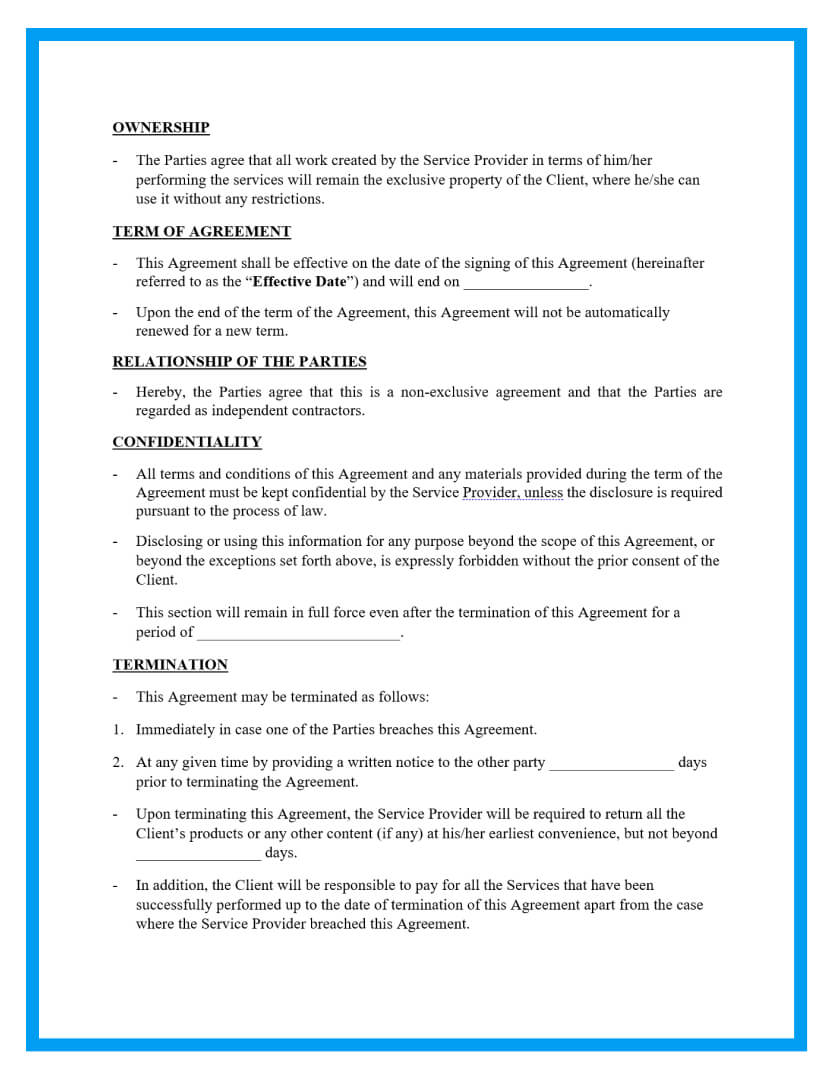 work for hire agreement template page 2