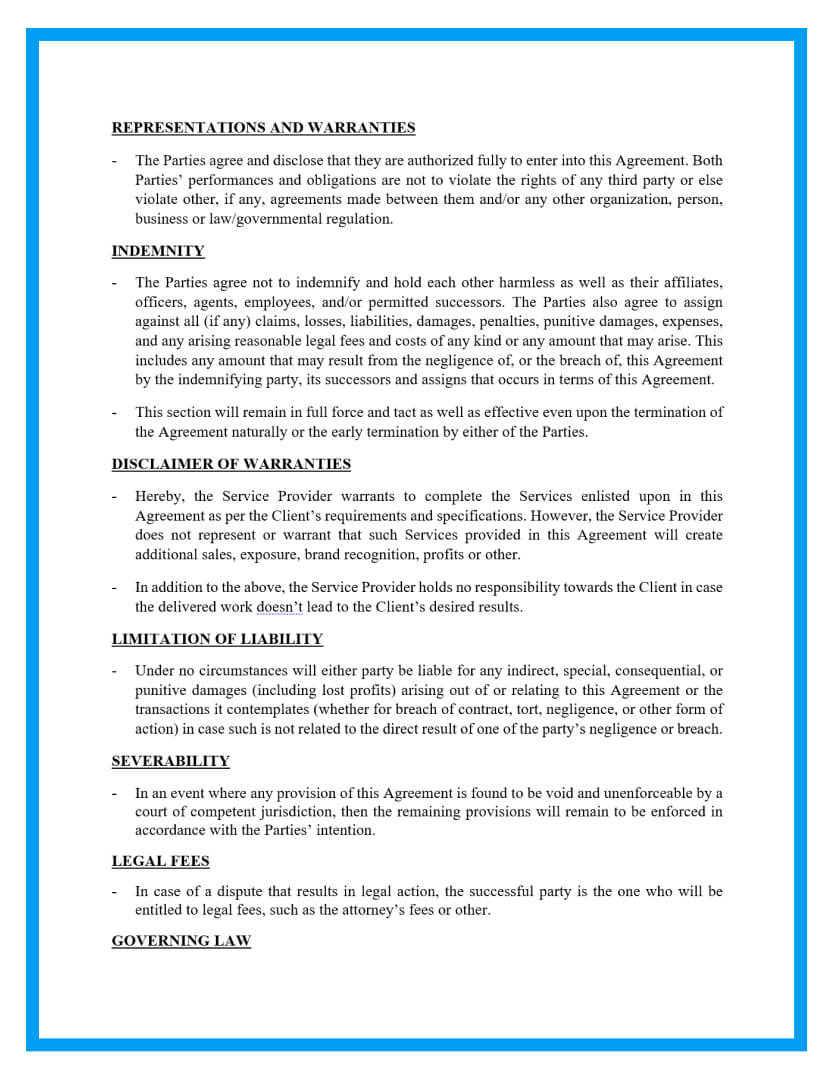 work for hire agreement template page 3