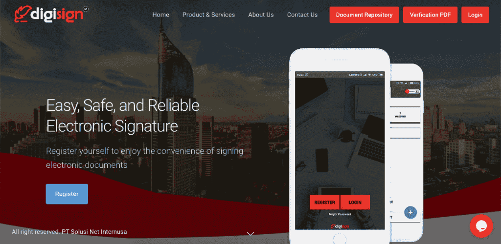 Digisign is a highly-secure online signature platform.