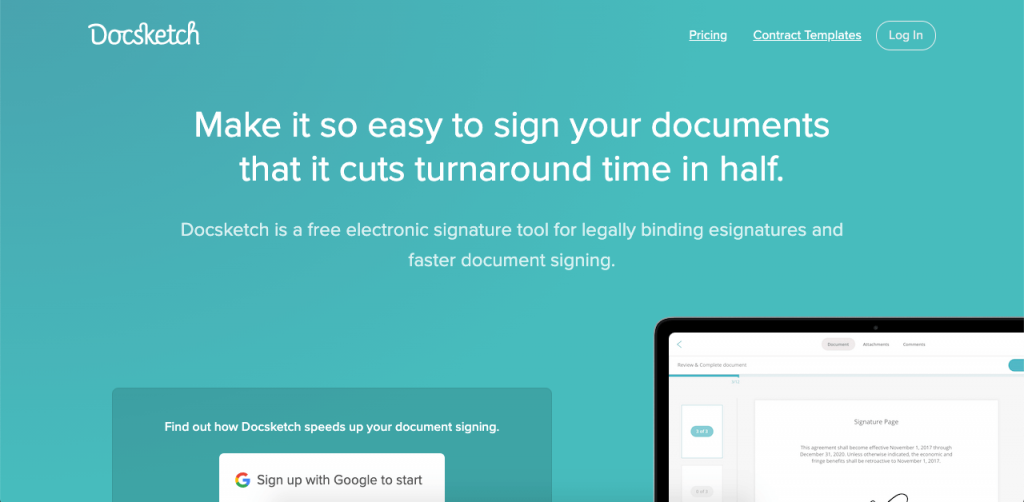 Docsketch has a generous free plan and great eSign capabilities.