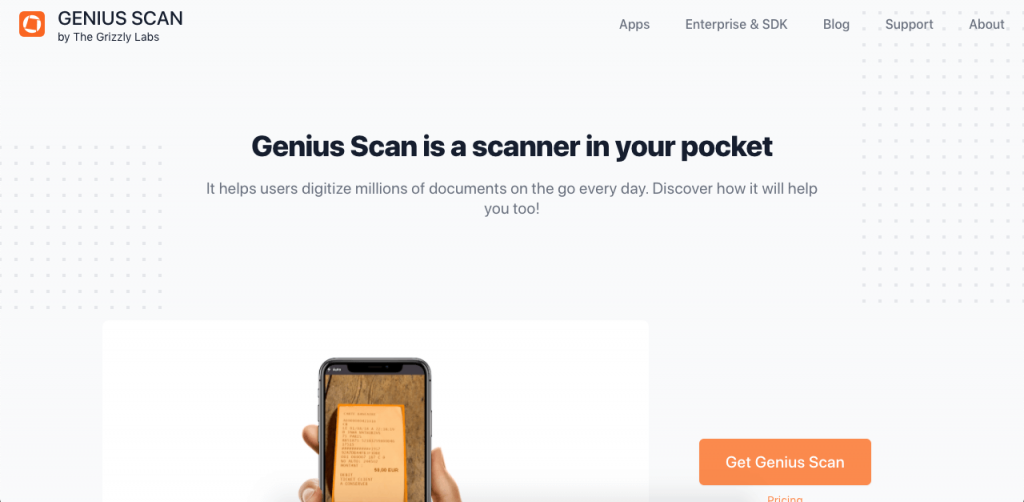 Genius Scan allows you to scan, convert, export, and share documents directly from your smartphone.