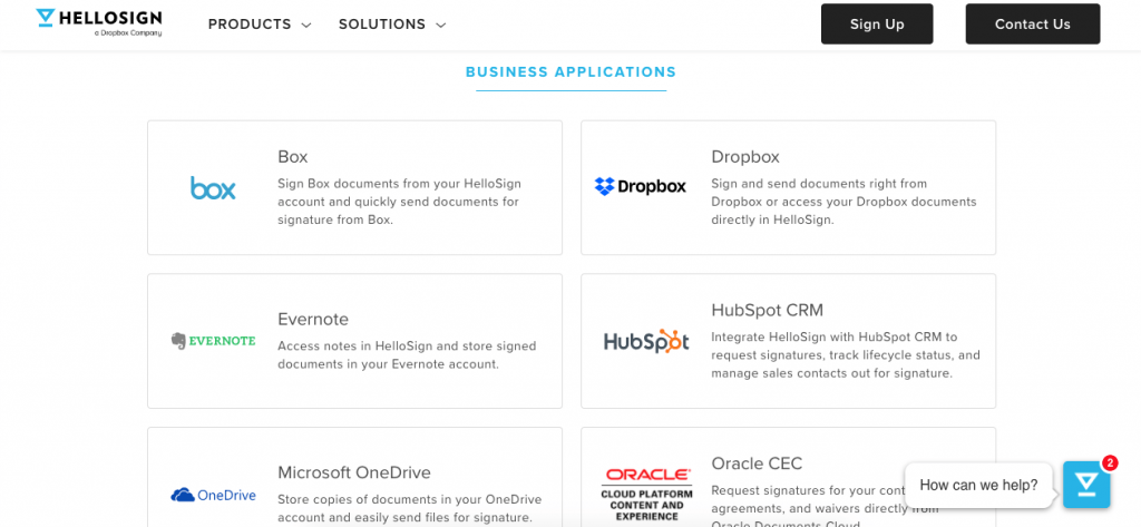 Apps you can integrate with HelloSign
