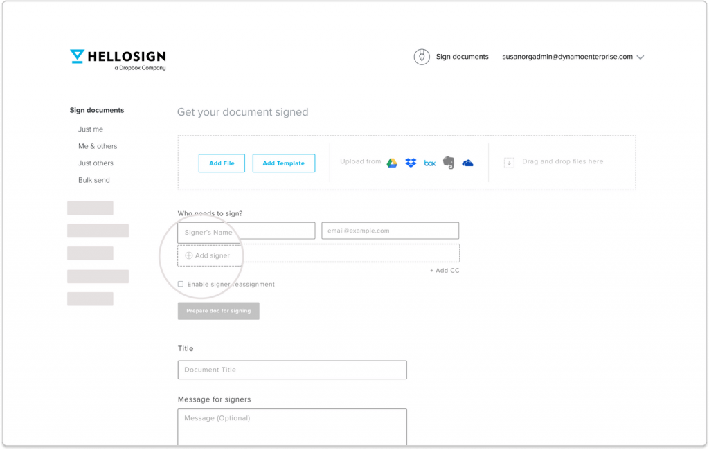How to sign documents using HelloSign