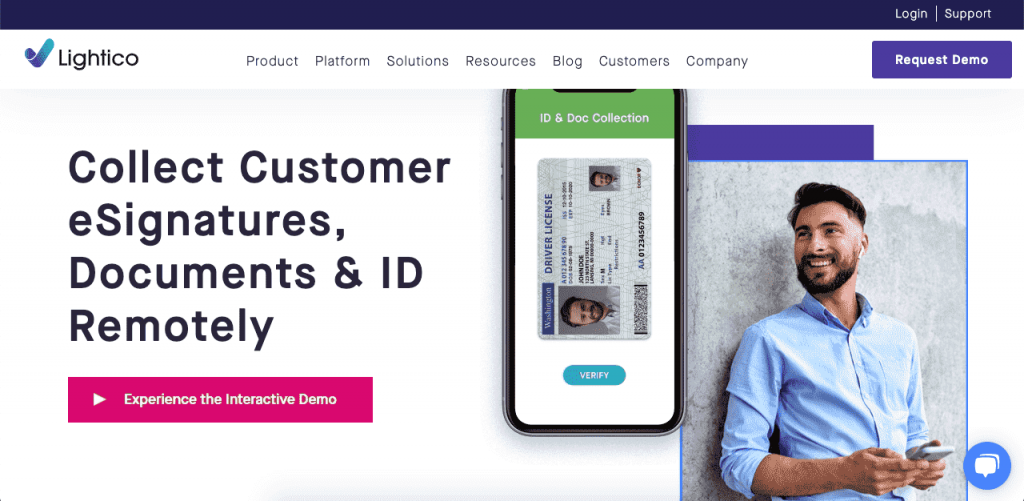 Lightico caters to B2C companies to simplify their online signature processes.