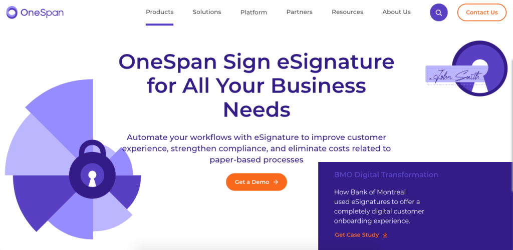 OneSpan Sign caters to large companies with a huge emphasis on security