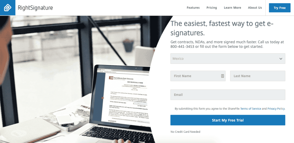 RightSignature is a good document management software with esign capabilities.