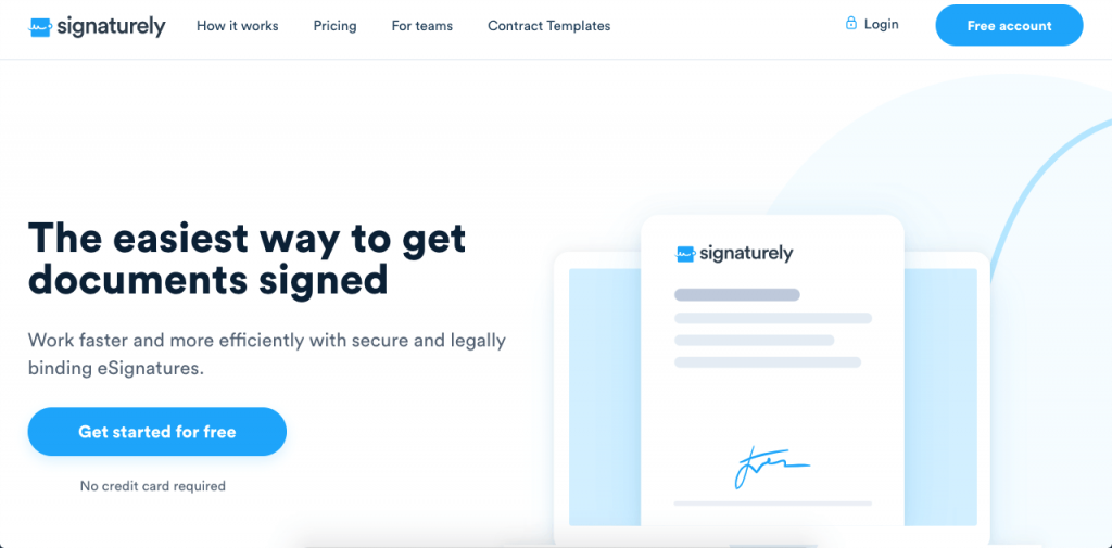 Signaturely is a great option when comparing HelloSign vs DocuSign