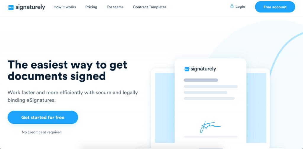 Signaturely is a great online signature platform