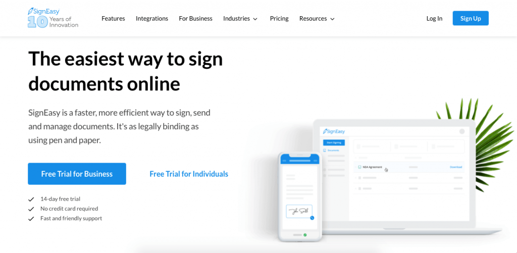 SignEasy streamlines the signature process as much as possible.