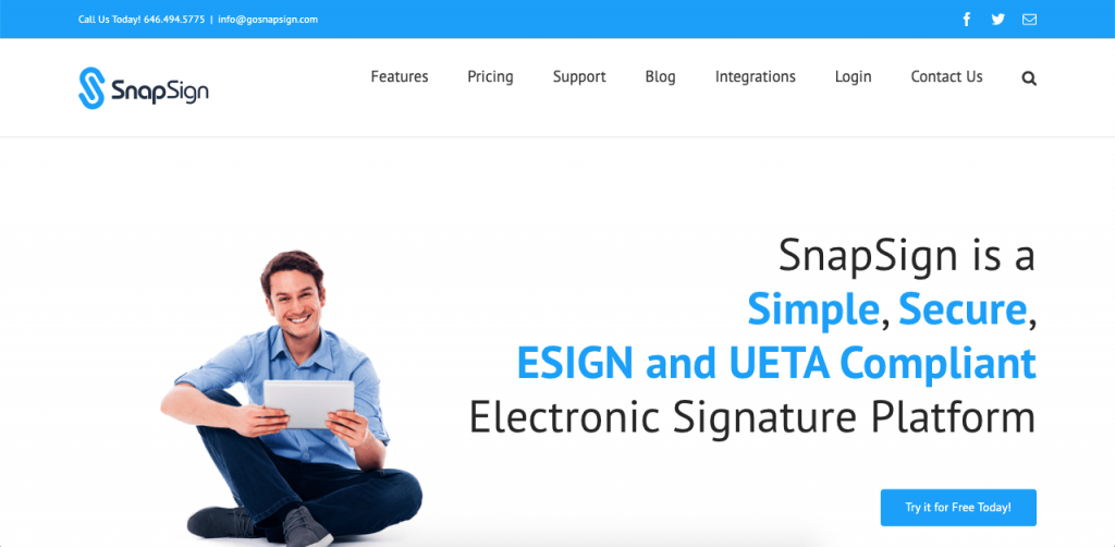SnapSign offers multiple advanced features and great integrations for company users.