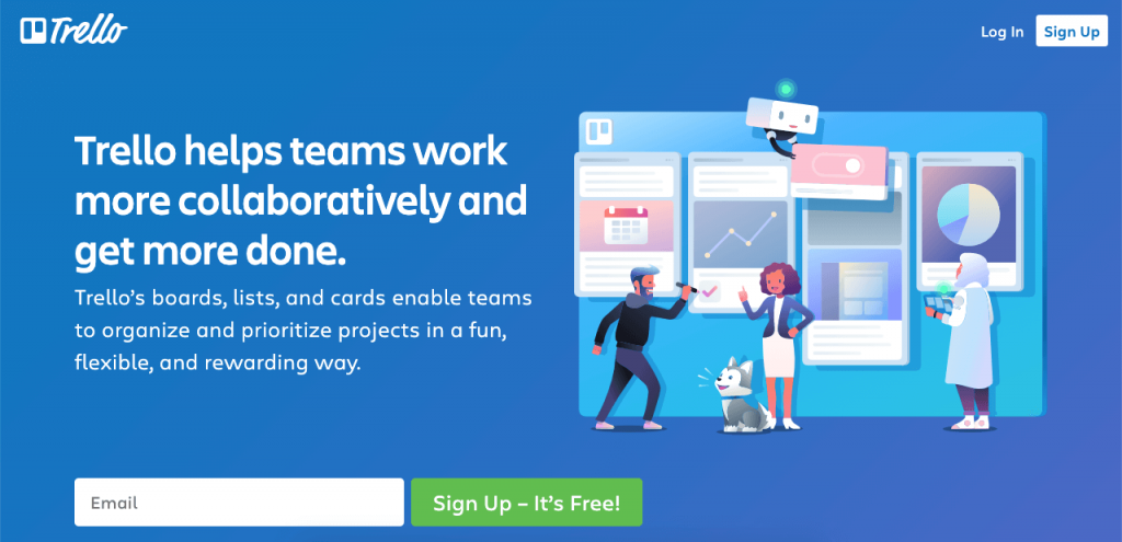 Trello is a kanban-based project manager.